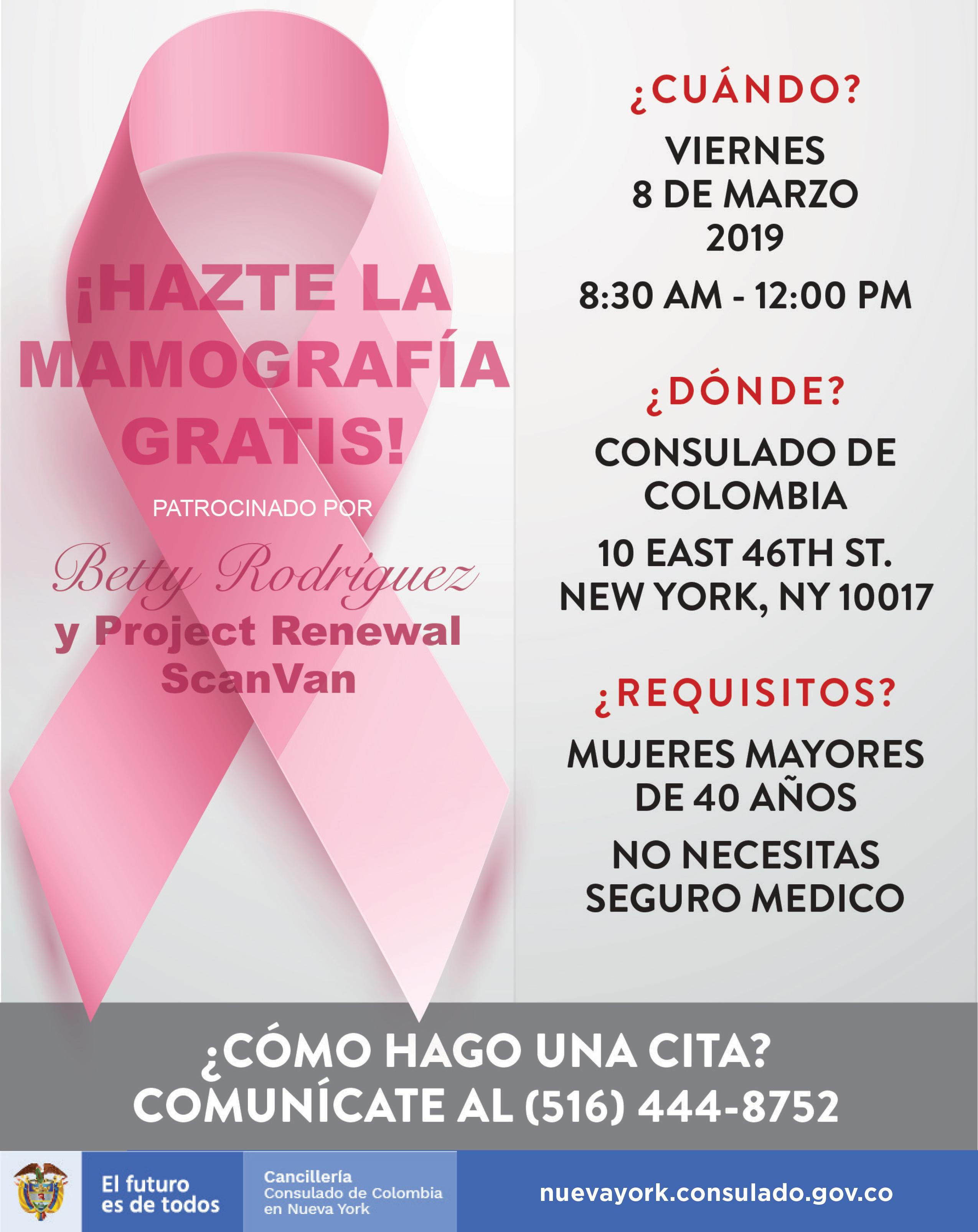 Costo de mamografia en colombia