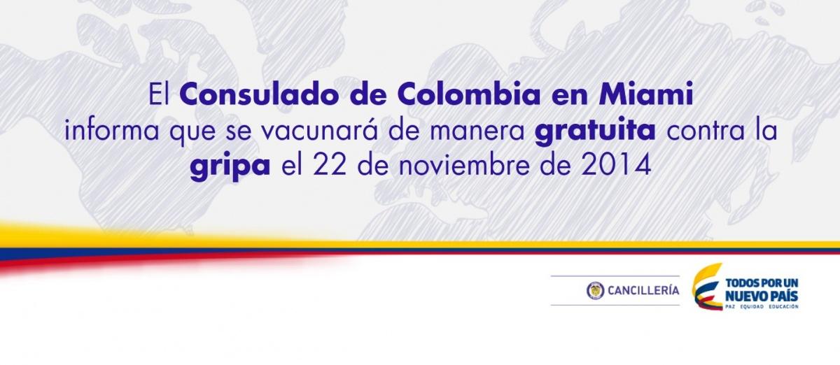 El Consulado General Central de Colombia en Miami informa que se