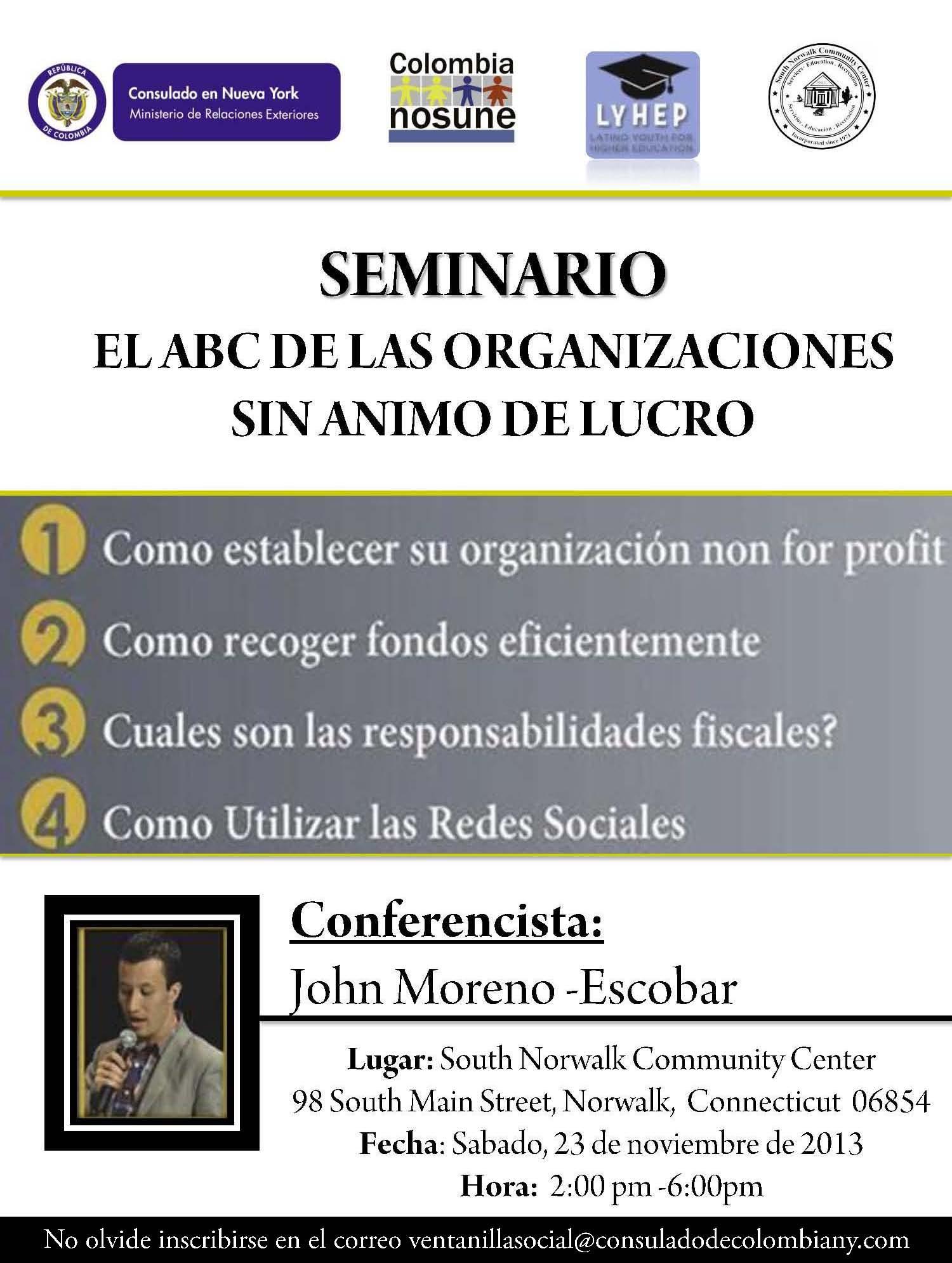 conferencia sobre organizaciones sin nimo de lucro en el On webmail mininterior
