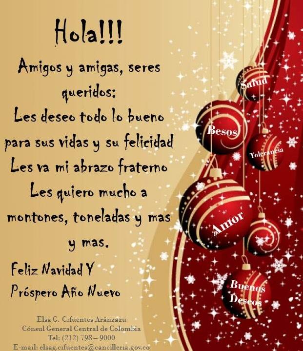 Saludos para navidad 2013 y ao nuevo 2014 2013 auto - Saludos de navidad ...