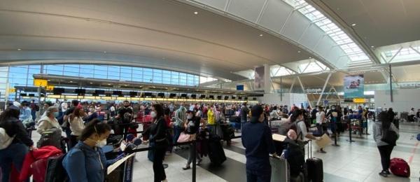 Este jueves llegó a Colombia el tercer vuelo de carácter humanitario que se realiza desde Nueva York, con 247 compatriotas que se encontraban en la zona este de los Estados Unidos en condición de viajeros temporales