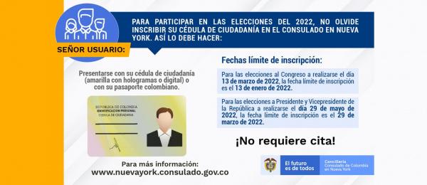 Conozca aquí las fechas límite para inscribir la cédula en el Consulado en Nueva York