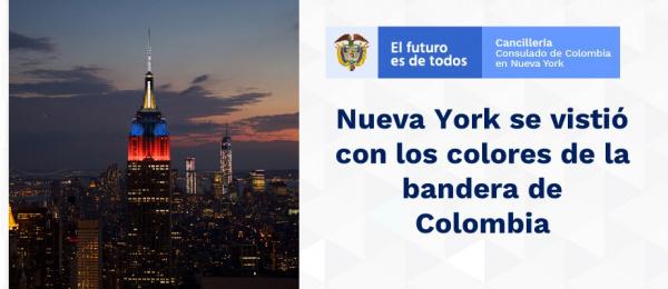 Nueva York se vistió con los colores de la bandera colombiana